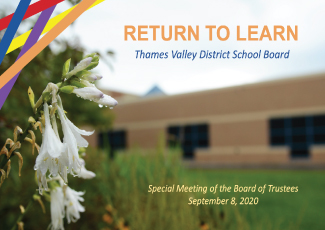 TVDSB Return to Learn Plan - September 8, 2020