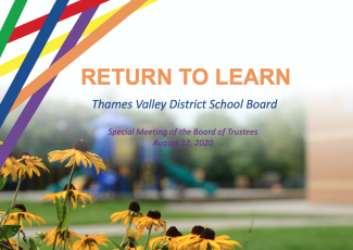 TVDSB Return to Learn Plan - August 12, 2020