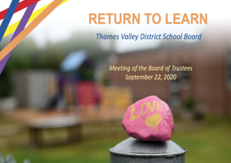 TVDSB Return to Learn Plan - September 22, 2020