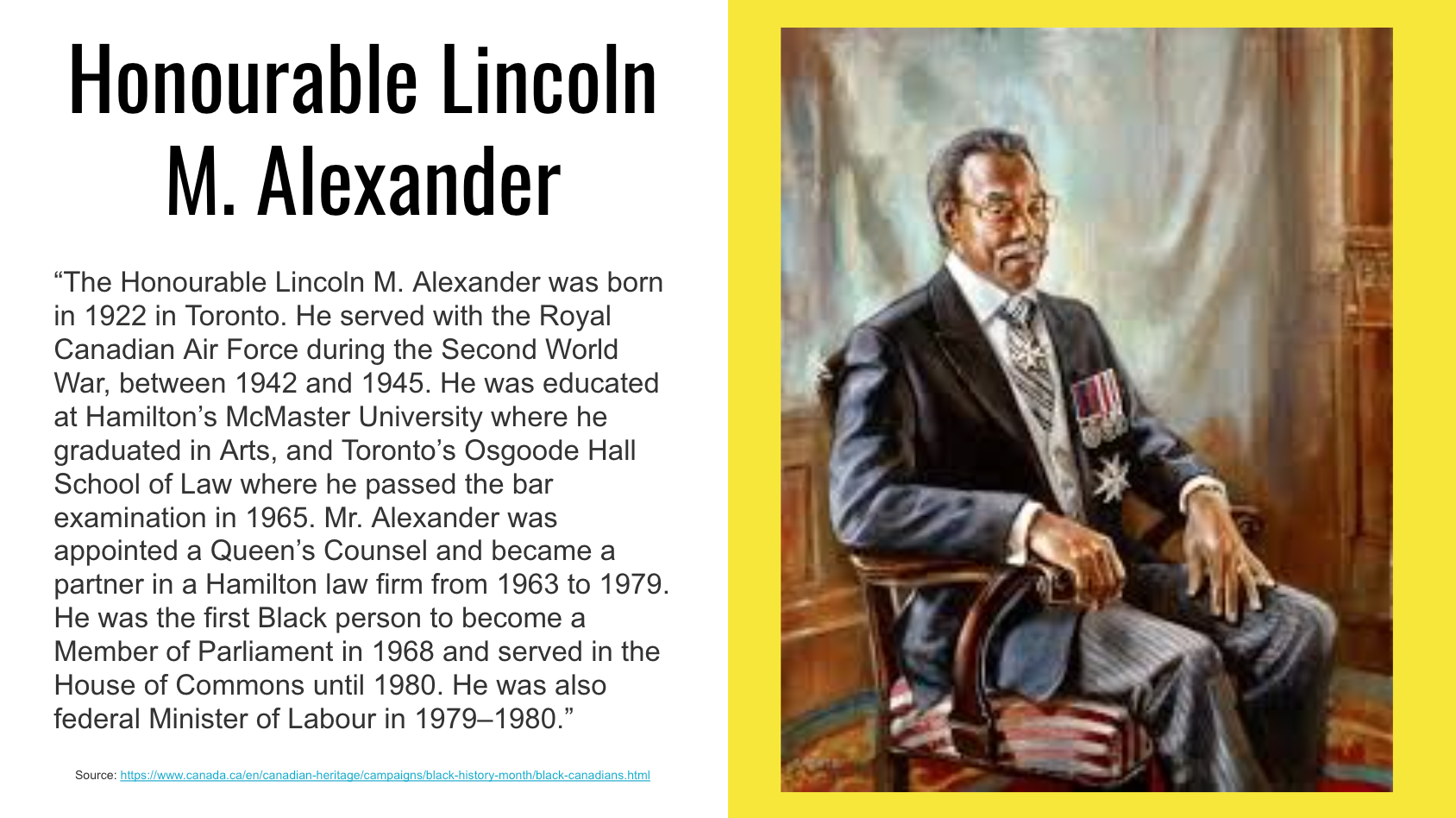 Honorable Lincoln M. Alexander