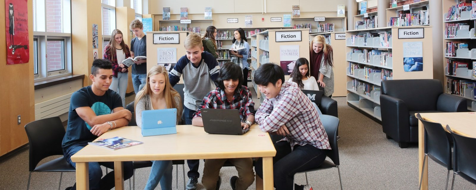 Myblueprint career planner tvdsb students in a library using mobile devices malvernweather Choice Image